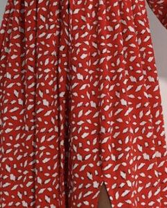 Luu Dress - Red Abstract