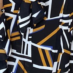 Daniella Dress - Black Abstract is